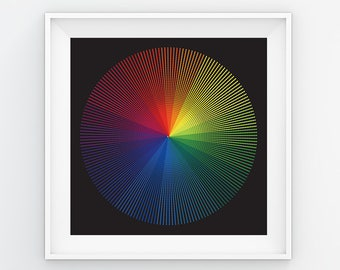 PRINTABLE Colorwheel Poster Wall Art Colorful Home Decor Office