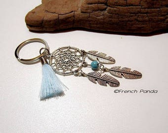 Silver plated Keyring and tassel