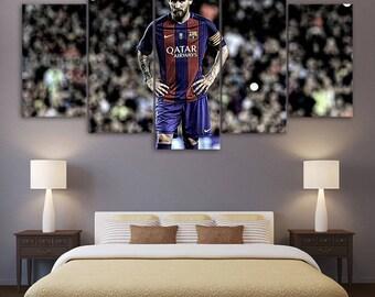 Barcelona Messi print poster canvas decoration 5 pieces