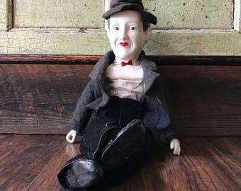 Stan Laurel Porcelain Doll