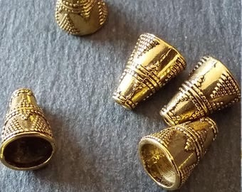 10 Antique Gold Tone Cone Shaped Spacer Beads 11x9mm