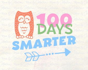 100 days smarter svg, 100 days svg, 100th day school svg, 100 days brighter svg, kids svg, boy 100 days svg, one hundred days svg, teacher