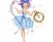 Blue Ballerina Fine Art Print