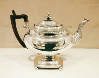 Old Sheffield Plate coffee pot Antique Georgian circa 1820 unusually large fine condition