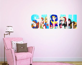 Kids Wall Stickers Etsy - Superhero wall decals for kids roomssuperhero wall decal etsy