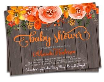 Fall Baby Shower Invites, Fall Baby Shower Invitation Printable, Autumn Baby Shower Invite, Fall Invitation, Autumn Invite