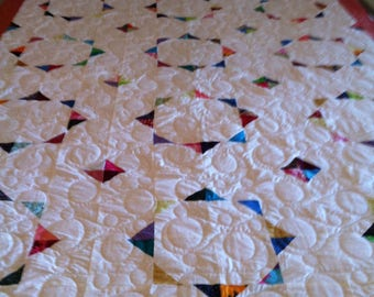 Circle of Color clean and simple lap/twin quilt