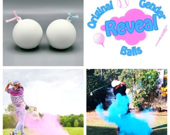 2 Golf Ball Gender Reveal Combo Pack: Custom Color Combinations