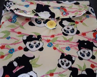 Changing mat portable panda pattern