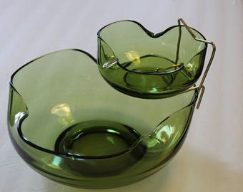 Accent Modern 3 pc Avocado Chip & Dip Set