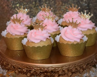 Custom Gold Cupcake Wrapper