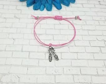 Dance Bracelet, Ballet Bracelet, Ballet Shoes Bracelet, Dance, Dance Mom Bracelet, Ballet, Macrame, Bracelet, Adjustable, String Bracelet