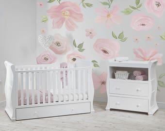 Flower Decals, Flower Wallpaper, Flower Wall Stickers, Flower Wall Decals, Flower  Wall