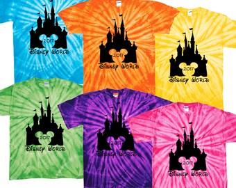 Walt Disney World family vacation 2017 tie dye tee shirt epcot mgm studios animal kingdom magic kingdom pandora the world of avatar resort