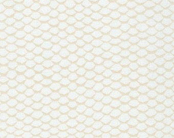 One Yard Cut - Snow Scallop - Pond by Elizabeth Hartman for Robert Kaufman -  Quilters Cotton - Fabric by the Yard