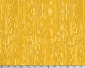 One Yard Cut - Woodgrain in Gold - Basic Colors by Joel Dewberry for Free Spirit -  Quilters Cotton - Fabric by the Yard