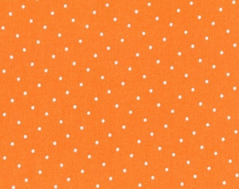 One Yard Cut - Orange Dot - Intermix for Dear Stella Designs -  Quilters Cotton - Fabric by the Yard