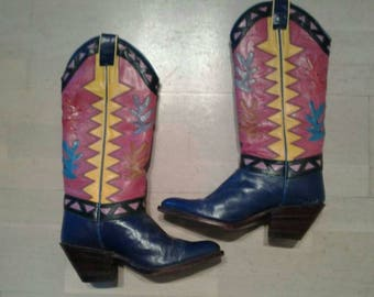 Cowboy vintage boots Beverly Feldman Mora 80s retro