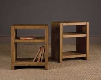Rustic Planked Side Table, Bedside, Night stand