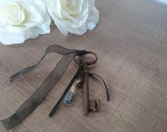 Great old key for shabby/romantic decor