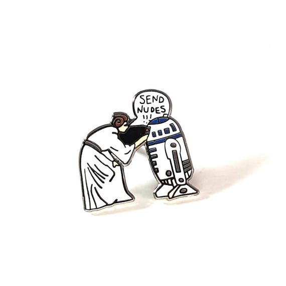 Send Nudes lapel pin
