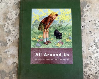 Vintage Children's Picture Book, 1944 Full Color Illustrations