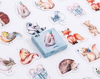 40 forest animal Stickers