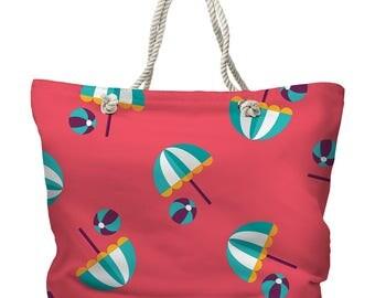 Umbrellas & Beach Balls Tote Bag