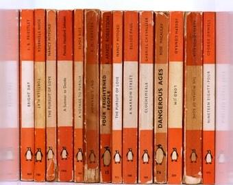 Collection of Orange Vintage Penguins