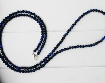 Lapis Lazuli Necklace 82 cm (32.3 inches), Long Lapis necklace,