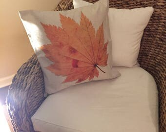 Thanksgiving pillow cover -Autumn cover - Fall pillow cover -Fall cushion - Home decor- Throw pillow cover - Leave pillow cover