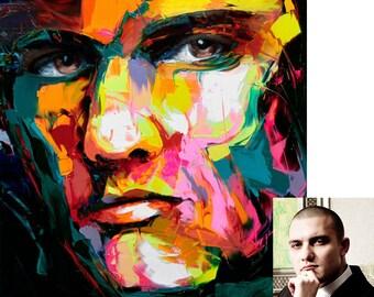 Custom Portrait, Custom Portraits, Original Paintings, Custom Abstract Portrait, Personalized Gift, Personalized, Custom Modern Paintings