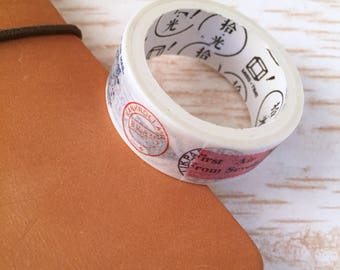 Post stamp washi tape