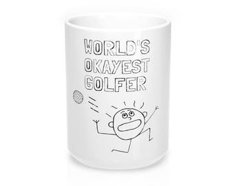 Fathers Day Golf WorldS Okayest Golfer Golf Gifts For Men Golf Gifts Golf Mug GolferS Mug Gifts For DadFathers Day Gift