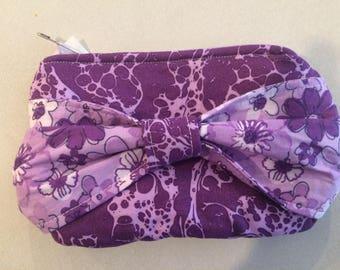 Purple Bow Clutch