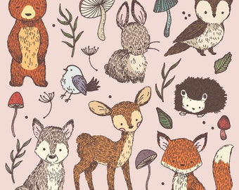 Woodland Creatures Card