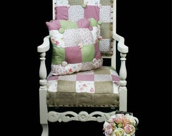 Patchwork childrens chair & cushion