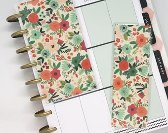 Happy Planner Dashboard Insert and Bookmark Set Planner Accessories Mambi Floral Planner Supplies Back to School