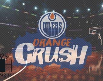 Orange Crush Oilers Custom Request SVG/PNG