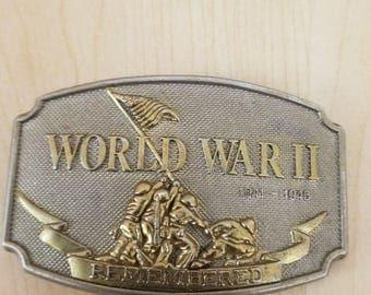 World War 2 Military Historical Patriotic Vintage Belt Buckle #26684