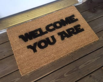 Star Wars Welcome You Are Mat