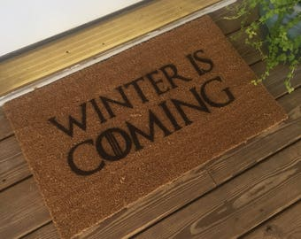 Winter Is Coming - Game of Thrones Doormat