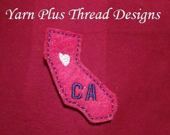 California Feltie Embroidery Design
