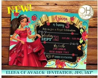 Elena of Avalor Invitation, elena of avalor birthday, elena of avalor birthday invitation, elena of avalor, princess elena invitation, elena