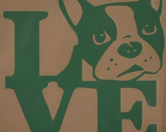 Boston Terrier decal for car