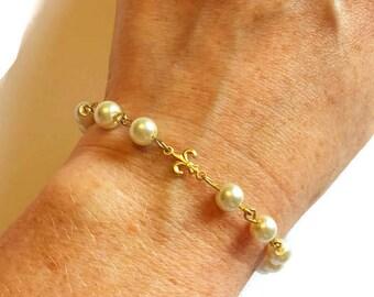 Pearl Wedding Bracelet, Wedding Jewelry, Pearl Bracelet, Pearl Jewelry, Bridal Bracelet, Bridal Jewelry, Wedding Accessories