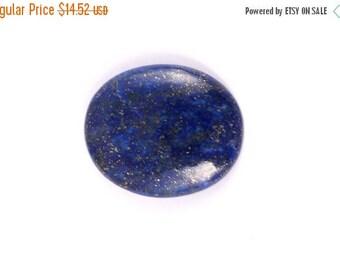 40 % DISCOUNT 34 CTS Lapis Lazuli cabochon oval shape semi precious gemstone cabochon size 26 X 22 X 5 mm approx