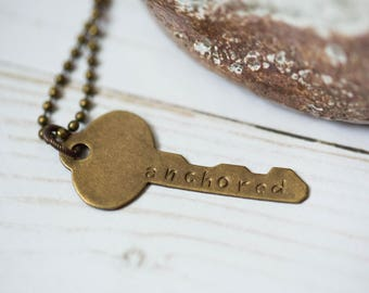 Custom Stamped Key Necklace