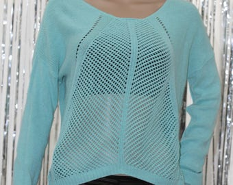 Vintage Light Blue 90's Cotton Will Smith Sweater (M)