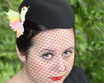 spring bird brooch, textile jewelry
